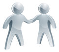 Shaking hands silver poeple a pair of people business concept Royalty Free Stock Image