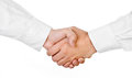 Shaking hands of two male people isolated Royalty Free Stock Photography