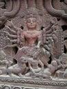 Shakti trample of nepals God Bhaktapur Royalty Free Stock Photo