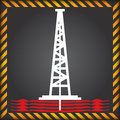 Shale gas label anti fracking for the exploitation of ban sign Royalty Free Stock Images