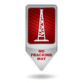 Shale gas tag antifracking for the exploitation of ban Royalty Free Stock Image