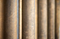 Shallow depth of field on receding worn stone pillars Royalty Free Stock Images