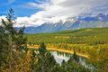 The shallow river in Yellowstone Stock Photo