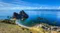 Shaman Rock, Island of Olkhon, Lake Baikal, Russia Royalty Free Stock Photo