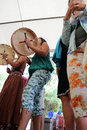 Shamanic Drums Stock Photography