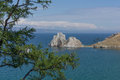 Shamanka Rock, Baikal Stock Photography