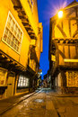 The Shambles at dusk, York Royalty Free Stock Photo