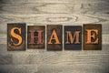 Shame Wooden Letterpress Theme