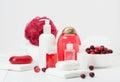 Shampoo, Soap Bar And Liquid. Toiletries, Spa Kit Royalty Free Stock Photo