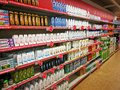 Shampoo, soap and personal care products department Royalty Free Stock Photo