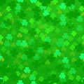 Shamrock background illustration of a seamless pattern Stock Image