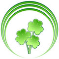 Shamrock bouquet with circles Royalty Free Stock Photo