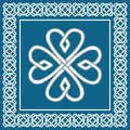 Shamrock - celtic knot,traditional irish symbol,vector Royalty Free Stock Photo