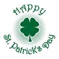 Shamrock clover. Green four leaf clover. St. Patricks Day celebration symbol