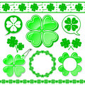 Shamrock design elements collection Royalty Free Stock Photo