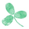 Shamrock fingerprint Royalty Free Stock Photography