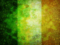 Shamrock Four Leaf Clover Grunge Flag Background Royalty Free Stock Photo