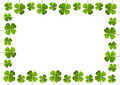 Shamrock frame Stock Photos