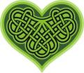 Shamrock heart. Celtic symbol