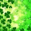 Shamrock Leaf Bokeh Stock Images