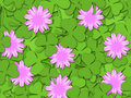 Shamrock Paper Cutting Clover Flowers Background Royalty Free Stock Photos