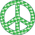 Shamrock Peace Sign Royalty Free Stock Photo