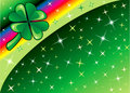 Shamrock Rainbow Background 2 Royalty Free Stock Photo