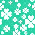 Shamrock seamless pattern green vector Royalty Free Stock Image
