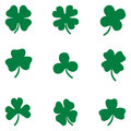 Shamrock set Clover leaves set
