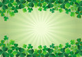 Shamrock St. Patricks Day Background Royalty Free Stock Image