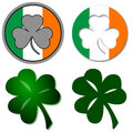 Shamrock Symbols Royalty Free Stock Photos