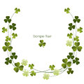 Shamrocks decoration border Stock Image
