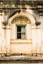 Shan style temple old windows in wat papoa chiangmai thailand Stock Image