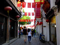 Shan Tang ancient town alley Royalty Free Stock Photo
