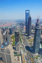 Shanghai aerial in the day Royalty Free Stock Photography