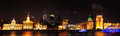 Shanghai bund night panorama the is located in downtown huangpu district huangpu river it is the landscape of Stock Images