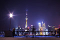 Shanghai Bund night scene Royalty Free Stock Photography