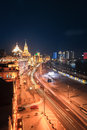 Shanghai bund night view beautiful of the in china Stock Photography