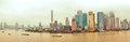 Shanghai bund view china cloudy weather Royalty Free Stock Images