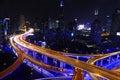Shanghai city highway traffic in nightfall