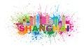 Shanghai City Skyline Paint Sp...