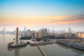 Shanghai at dawn Royalty Free Stock Photos