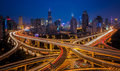 Shanghai elevated road junction Royalty Free Stock Photo