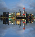 Shanghai landmark at new skyline lujiazui finance trade zone of Stock Photos