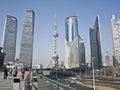 Shanghai lujiazui buildings in liujiazui pudong Stock Image
