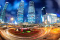 Shanghai lujiazui downtown at night Stock Image