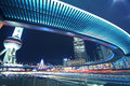 Shanghai Lujiazui highway at night Stock Images