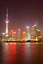 Shanghai at night skyline china Stock Photo