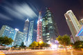 Shanghai at night tower building beautiful view Stock Photo