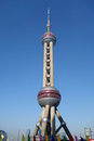 Shanghai oriental pearl tv tower located in lujiazui business and financial center。 Stock Images
